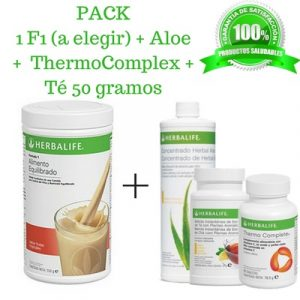 Compra BARATO aqui tu PACK Batido + Aloe + Te + Thermo Complete Herbalife